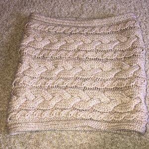 Cream circle scarf